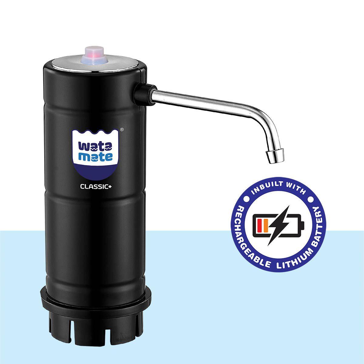 Watamate Classic+, Rechargeable Water Dispenser Pump - Black